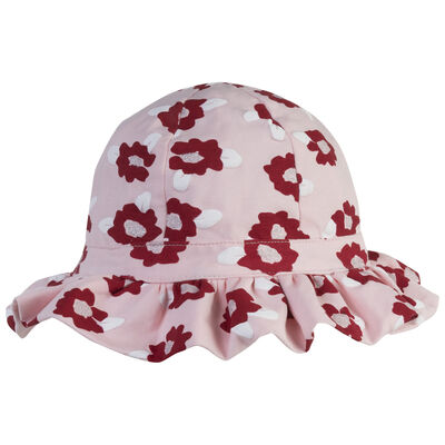 Girls Floral Frilly Hat