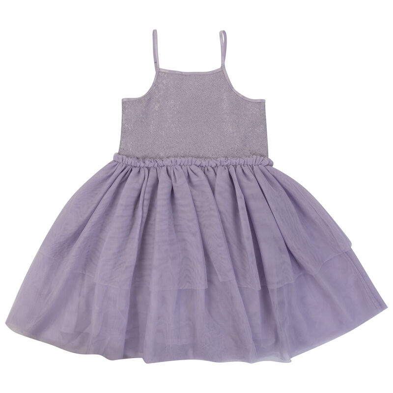 Girls Jess Sequin Dress -  purple