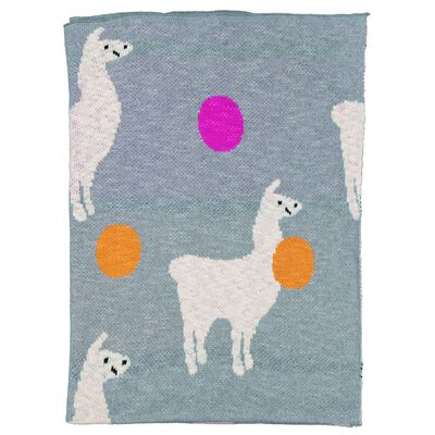 Baby Girls Lucy Llama Knitted Blanket
